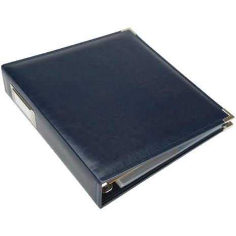 We R Memory Keepers Classic Leather D-Ring Album 8,5X11 - Navy