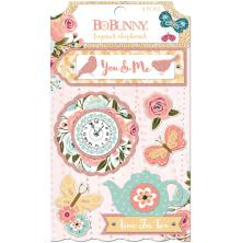 BoBunny Adhesive Layered Chipboard - Early Bird
