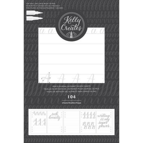 Kelly Creates Journal Double-Sided Review Sheets 104/Pkg - Alphabet