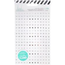 Heidi Swapp Fresh Start Memory Planner Clear Stickers - Date
