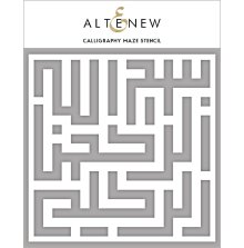 Altenew Stencil 6X6 - Calligraphy Maze