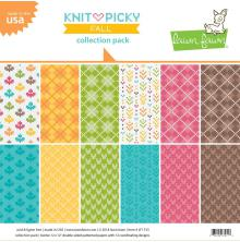 Lawn Fawn Collection Pack 12X12 - Knit Picky Fall