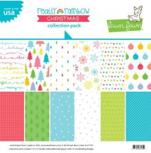 Lawn Fawn Collection Pack 12X12 - Really Rainbow Christmas