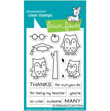 Lawn Fawn Clear Stamps 3X4 - So Owlsome