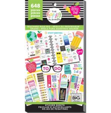 Me & My Big Ideas Happy Planner Sticker Value Pack BIG - Teachers Rule