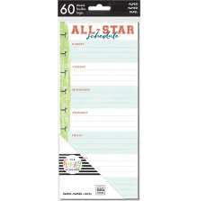 Me & My Big Ideas CLASSIC Half Sheet Fill Paper 60/Pkg - Sports