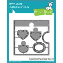 Lawn Fawn Custom Craft Die - Reveal Wheel Square Add-On