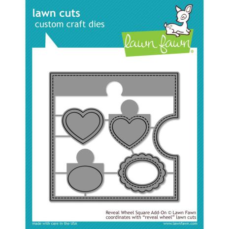Lawn Fawn Custom Craft Die - Reveal Wheel Square Add-On