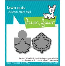 Lawn Fawn Custom Craft Die - Reveal Wheel Fall Leaf Add-On