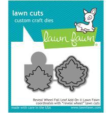 Lawn Fawn Custom Craft Die - Reveal Wheel Fall Leaf Add-On