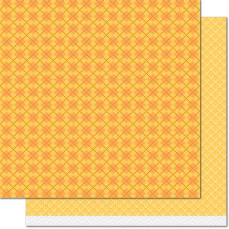 Lawn Fawn Knit Picky Fall Double-Sided Cardstock 12X12 - Cozy Cardigan