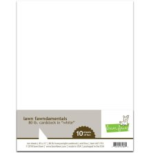 Lawn Fawn 80 lb. Cardstock - White
