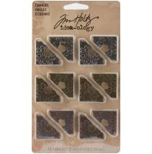 Tim Holtz Idea-Ology Metal Ornate Corners 1inch 12/Pkg