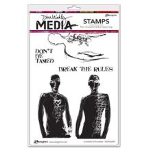Dina Wakley Media Cling Stamps 6X9 - Scribbled Silhouettes