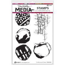 Dina Wakley Media Cling Stamps 6X9 - For The Love Of Circles