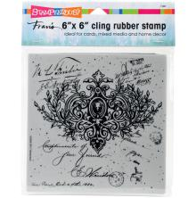 Stampendous Cling Stamp 6x6 - Ornate Scroll