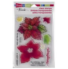 Stampendous Perfectly Clear Stamps 4x6 - Poinsettia Parts