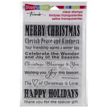 Stampendous Perfectly Clear Stamps 4x6 - Holiday Wishes