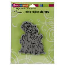 Stampendous Cling Stamp - Cherub Deer