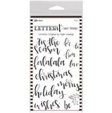 Ranger Letter It Clear Stamp Set 4X6 - Christmas