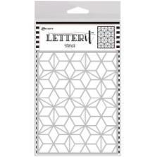 Ranger Letter It Background Stencil 4.75X6 - Puzzled Mosaic