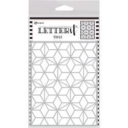 Ranger Letter It Background Stencil 4.75X6 - Puzzled Mosaic