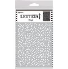 Ranger Letter It Background Stencil 4.75X6 - Party Time
