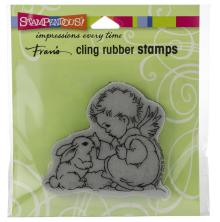 Stampendous Cling Stamp - Bunny Cherub