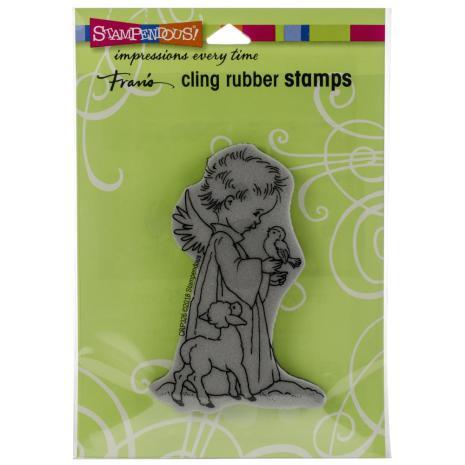 Stampendous Cling Stamp - Birdie Cherub