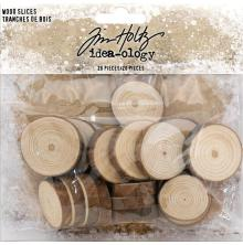 Tim Holtz Idea-Ology 20/Pkg - Wood Slices
