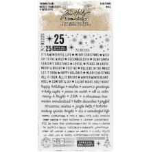 Tim Holtz Idea-Ology Remnant Rubs Rub-Ons - Christmas