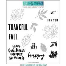 Concord & 9th Clear Stamps 6X6 - Thankful Leaves Turnabout