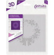 Crafters Companion Gemini 6x6 3D Embossing Folder - Poinsettia Wreath