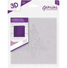 Crafters Companion Gemini 6x6 3D Embossing Folder - Festive Pine
