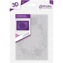 Crafters Companion Gemini 5x7 3D Embossing Folder - Poinsettia Frame