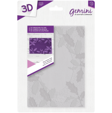 Crafters Companion Gemini 5x7 3D Embossing Folder - Decorative Holly