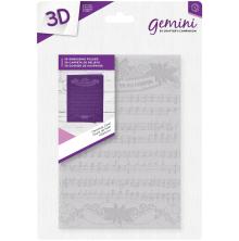Crafters Companion Gemini 5x7 3D Embossing Folder - Christmas Carol