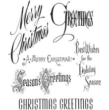 Tim Holtz Cling Stamps 7X8.5 - Christmastime