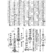 Tim Holtz Cling Stamps 7X8.5 - Music & Advert