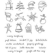 Tim Holtz Cling Stamps 7X8.5 - December Doodles