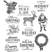 Tim Holtz Cling Stamps 7X8.5 - Festive Overlay