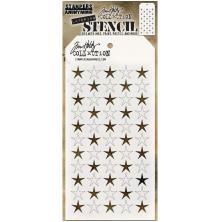Tim Holtz Layered Stencil 4.125X8.5 - Shifter Stars