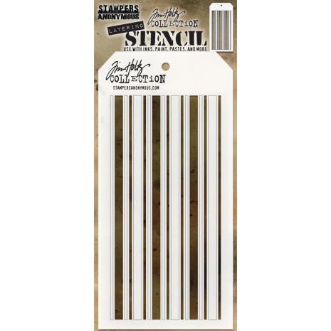 Tim Holtz Layered Stencil 4.125X8.5 - Shifter Mint
