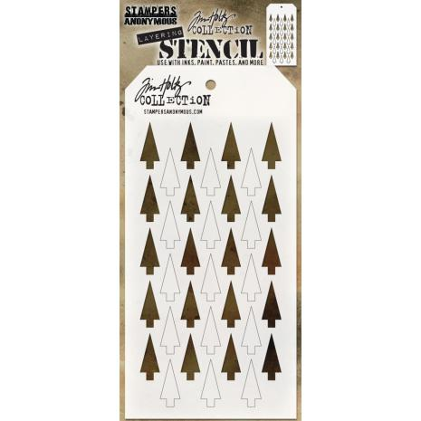 Tim Holtz Layered Stencil 4.125X8.5 - Shifter Tree