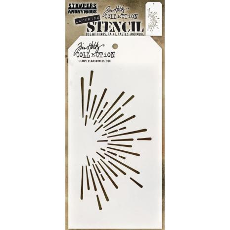 Tim Holtz Layered Stencil 4.125X8.5 - Burst