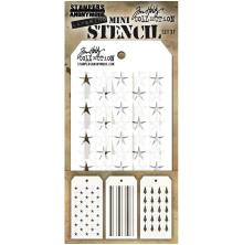 Tim Holtz Mini Layered Stencil Set 3/Pkg - Set #37