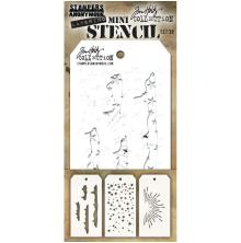 Tim Holtz Mini Layered Stencil Set 3/Pkg - Set #38