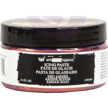 Prima Finnabair Art Extravagance Icing Paste 120ml Jar - Red Amber