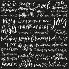 Kaisercraft Peace & Joy Spot Varnish Cardstock 12X12 - Joyful