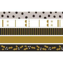 Kaisercraft Printed Tape .5X16.5ft 5/Pkg - First Noel